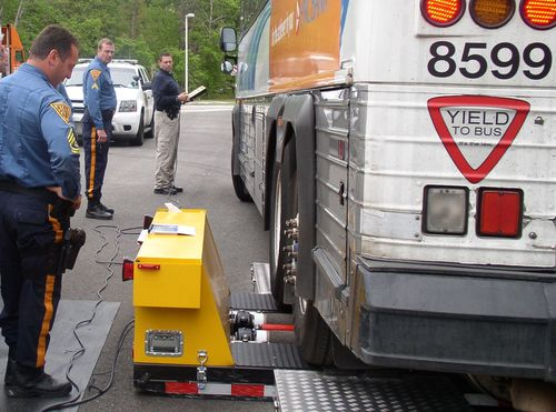 Federal motor carrier safety administration conducts bus for Pa motor vehicle inspection